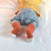 Работы для детей, ручной работы. Ярмарка Мастеров - ручная работа Шерстяные детские носки теплые и мягкие. Handmade.