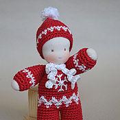 Куклы и игрушки ручной работы. Ярмарка Мастеров - ручная работа Пупсик в комбинезоне, 14 см. Handmade.