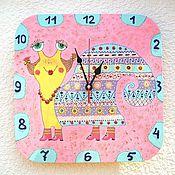 Для дома и интерьера handmade. Livemaster - original item Wall clock baby Snail Ethno, wall clock handmade. Handmade.