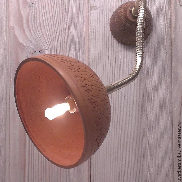 Настенно-потолочный керамический светильник на гибком креплении, Бра, Москва,  Фото №1