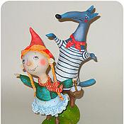 Куклы и игрушки ручной работы. Ярмарка Мастеров - ручная работа Шапочка и Волк. Handmade.