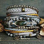 Украшения handmade. Livemaster - original item BOHO bracelet with labradorite