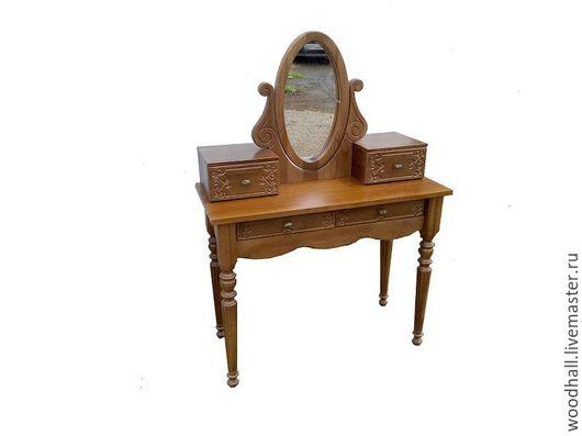 Деревянный туалетный столик из массива ясеня
