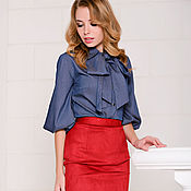 Одежда handmade. Livemaster - original item Blouse with bow jeans. Handmade.