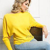 Одежда ручной работы. Ярмарка Мастеров - ручная работа Желтый кашемировый свитер. Handmade.