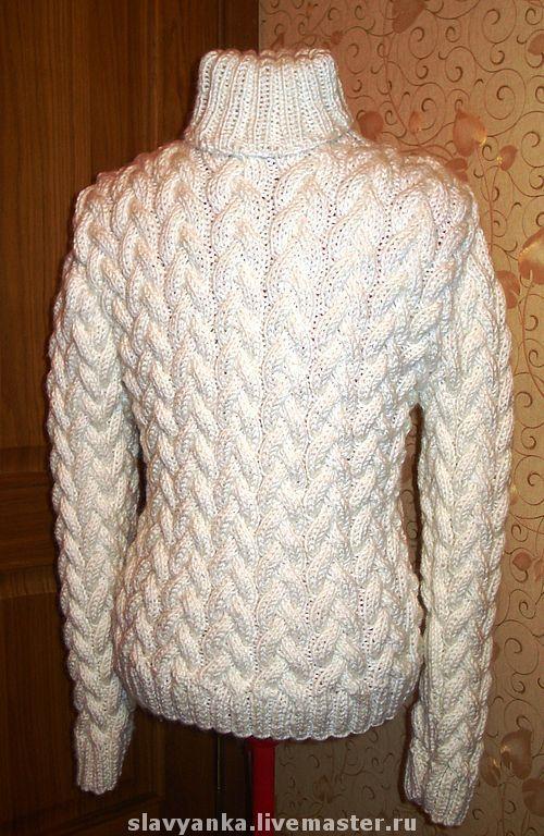 Для мужчин, ручной работы. Ярмарка Мастеров - ручная работа. Купить Уютный и теплый мужской свитер. Handmade. Спицы, акрил