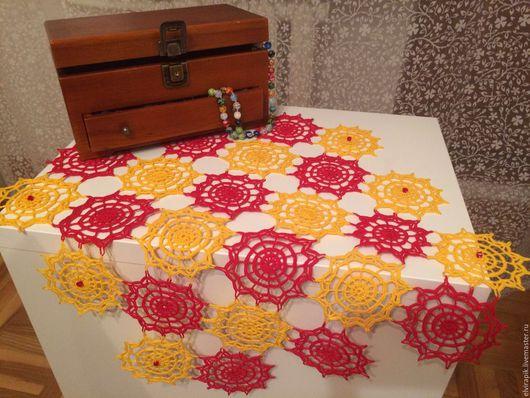 Текстиль, ковры ручной работы. Ярмарка Мастеров - ручная работа. Купить Салфетка Карнавал. Handmade. Салфетка крючком, скатерть на стол
