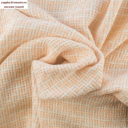 Шитье ручной работы. Ярмарка Мастеров - ручная работа. Купить Итальянская ткань №236, хлопок, шанель. Handmade. Бледно-розовый