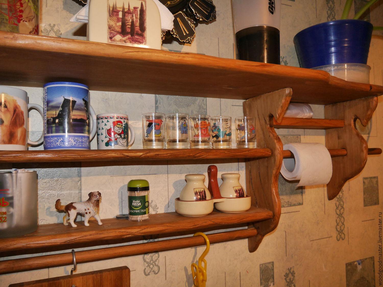Полочка для кухни из дерева своими руками фото