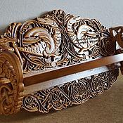 Для дома и интерьера handmade. Livemaster - original item Shelf of carved wooden Dragons. Handmade.