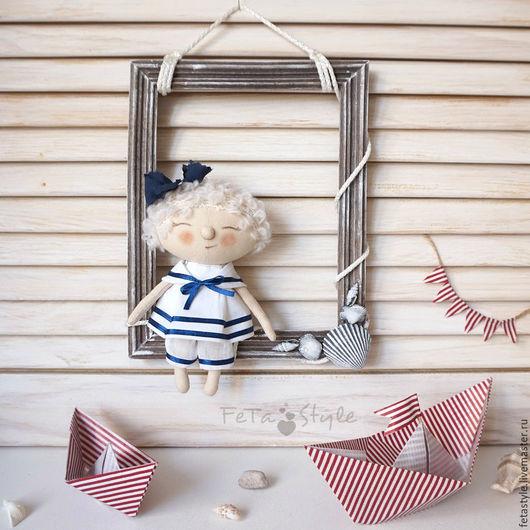 Детская ручной работы. Ярмарка Мастеров - ручная работа. Купить Рамка с Юнгой Декор для детской комнаты Морской стиль. Handmade.