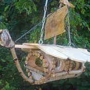 """Для домашних животных, ручной работы. Ярмарка Мастеров - ручная работа Кормушка для птиц """"Летучий корабль"""". Handmade."""