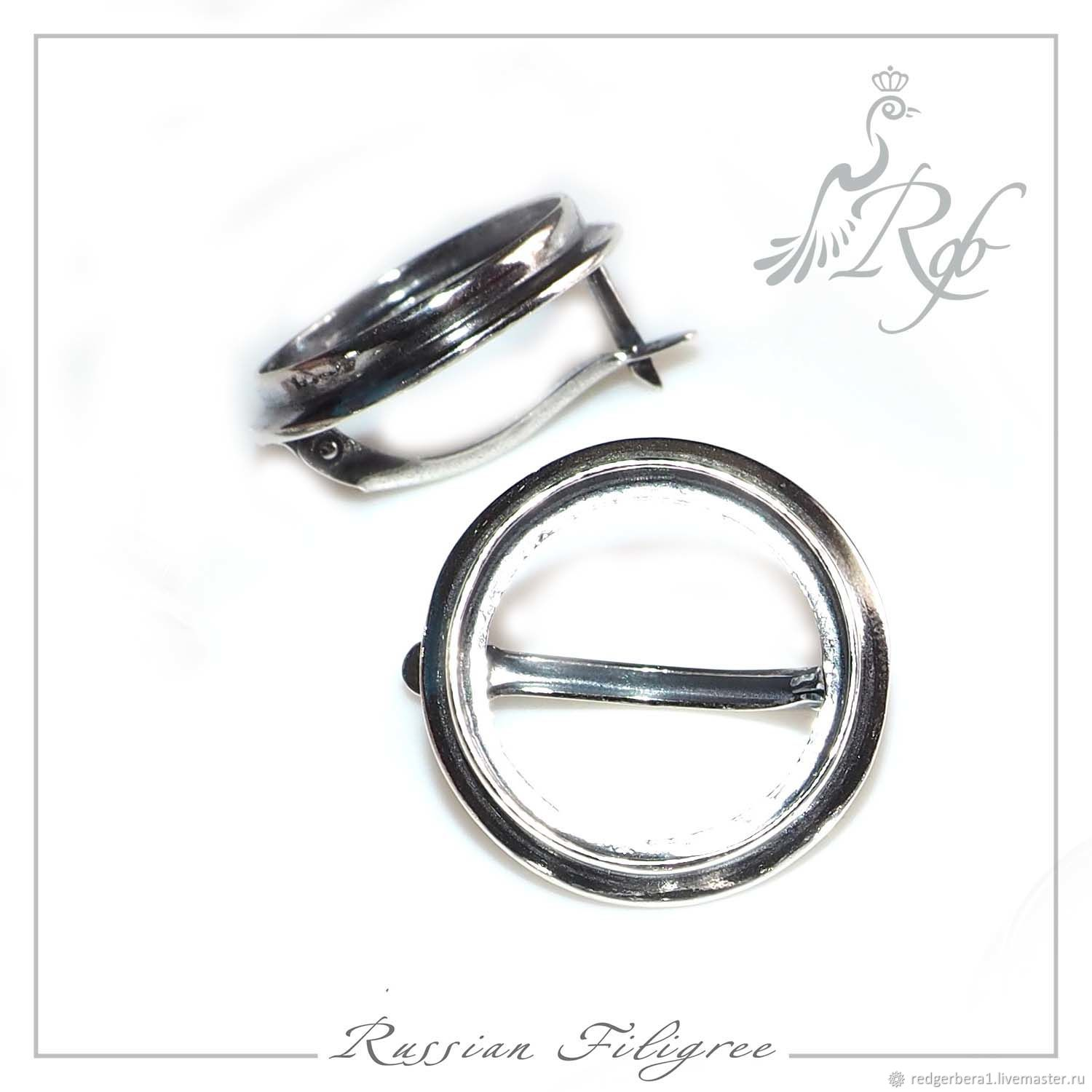 Basis for earrings, 'Rosie' (20 mm), silver 925, Blanks for jewelry, Kostroma,  Фото №1