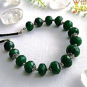 Украшения handmade. Livemaster - original item Emerald necklaces