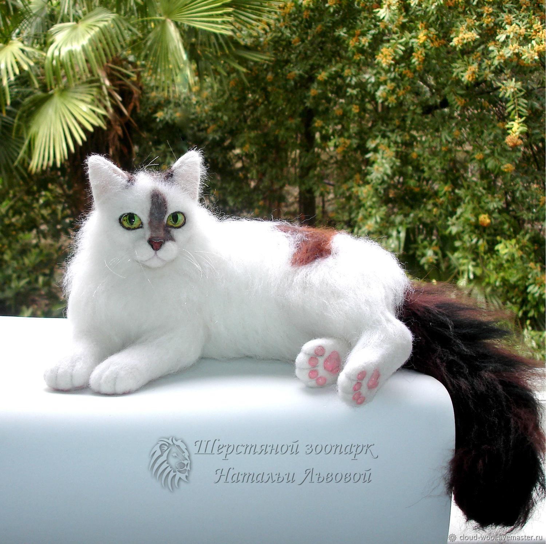 Кот Тиша по фотографии, валяный из шерсти котик с портретным сходством, Войлочная игрушка, Сочи,  Фото №1