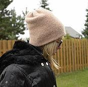 Аксессуары ручной работы. Ярмарка Мастеров - ручная работа Кашемировая шапка бини теплая двойная. Handmade.