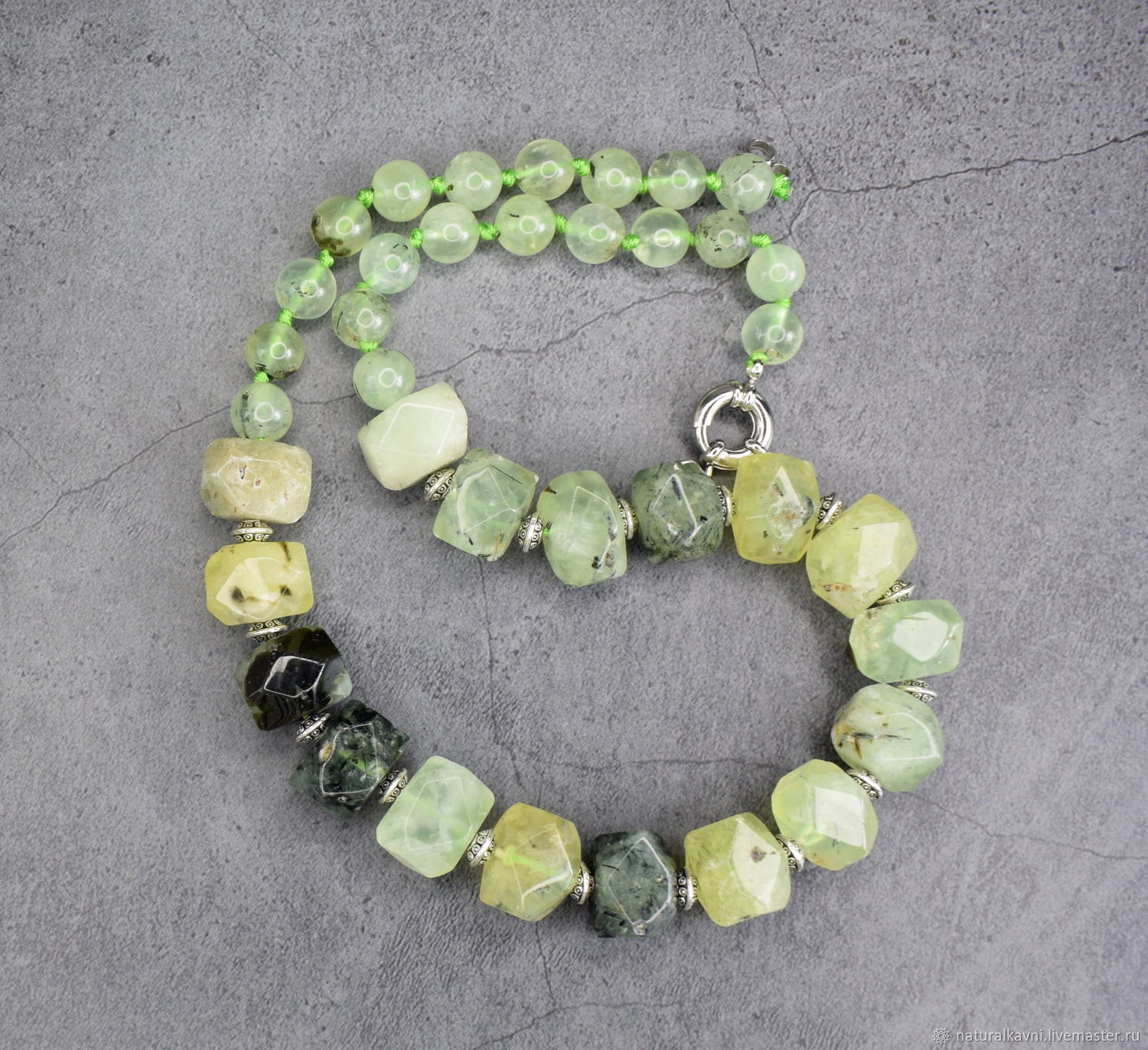Necklace from natural prenite, Necklace, Moscow,  Фото №1