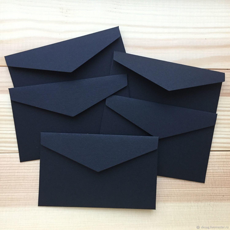 Мини-конверт из дизайнерской бумаги (чёрный), Упаковка, Москва, Фото №1