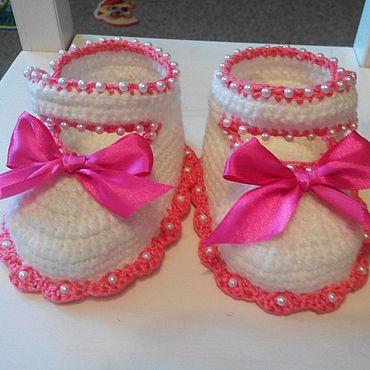 Обувь ручной работы. Ярмарка Мастеров - ручная работа Пинетки для малышек. Handmade.