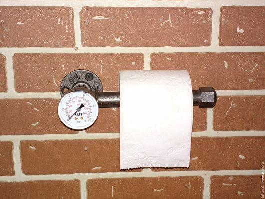 Ванная комната ручной работы. Ярмарка Мастеров - ручная работа. Купить Держатель туалетной бумаги в стиле Лофт (Loft), Индастриал, Стимпанк. Handmade.