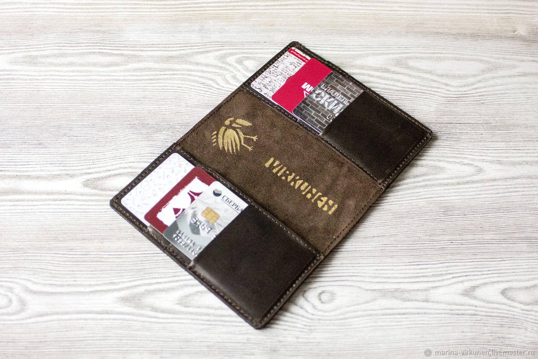 """Обложка для паспорта и карт """"Темный шоколад"""", Обложки, Санкт-Петербург,  Фото №1"""
