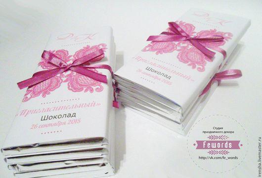 Свадебные открытки ручной работы. Ярмарка Мастеров - ручная работа. Купить Шоколад   - приглашение на свадьбу. Handmade. Шоколад, пригласительные, фуксии