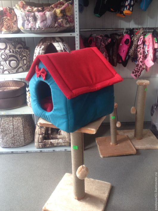 Аксессуары для кошек, ручной работы. Ярмарка Мастеров - ручная работа. Купить Дом-будка трансформер. Handmade. Лежанка для кошки