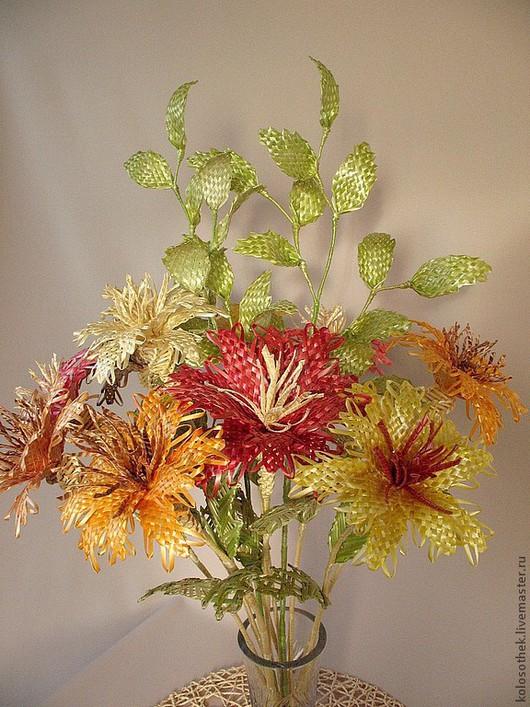 Цветы ручной работы. Ярмарка Мастеров - ручная работа. Купить Цветы из соломки.. Handmade. Соломка, букет цветов, цветы, соломка
