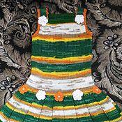Работы для детей, ручной работы. Ярмарка Мастеров - ручная работа Платье-сарафан полосатенькое. Handmade.