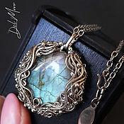 Украшения handmade. Livemaster - original item Pendant with a melchior labradorite stone