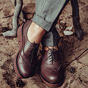 Обувь ручной работы. Ярмарка Мастеров - ручная работа Полуботинки Janis. Handmade.