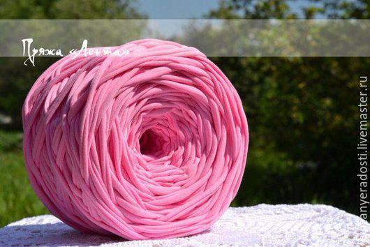 """Вязание ручной работы. Ярмарка Мастеров - ручная работа. Купить Пряжа """"Лента"""" (цвет розовый). Handmade. Розовый, пряжа"""