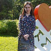 """Одежда ручной работы. Ярмарка Мастеров - ручная работа Платье """"Яркие листья"""" первому покупателю отличная цена. Handmade."""