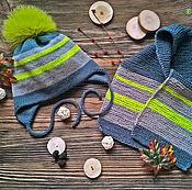 """Работы для детей, ручной работы. Ярмарка Мастеров - ручная работа Осенний комплект для мальчика """"Стильный"""". Handmade."""