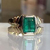 Украшения handmade. Livemaster - original item Men`s Gold Ring with Emerald (3,96 ct) Handmade Ring. Handmade.