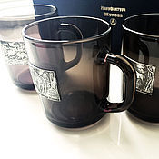 Сувениры и подарки handmade. Livemaster - original item Set of black mugs