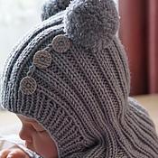 Работы для детей, ручной работы. Ярмарка Мастеров - ручная работа Шапочка-шлем для малыша. Handmade.