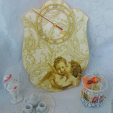 """Для дома и интерьера ручной работы. Ярмарка Мастеров - ручная работа Настенные часы """"Поцелуй"""". Handmade."""