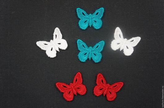 Вышивка ручной работы. Ярмарка Мастеров - ручная работа. Купить Бабочки-заготовки для сережек. Handmade. Комбинированный, украшение, вискоза