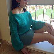 Одежда ручной работы. Ярмарка Мастеров - ручная работа Модный укороченый свитер.. Handmade.