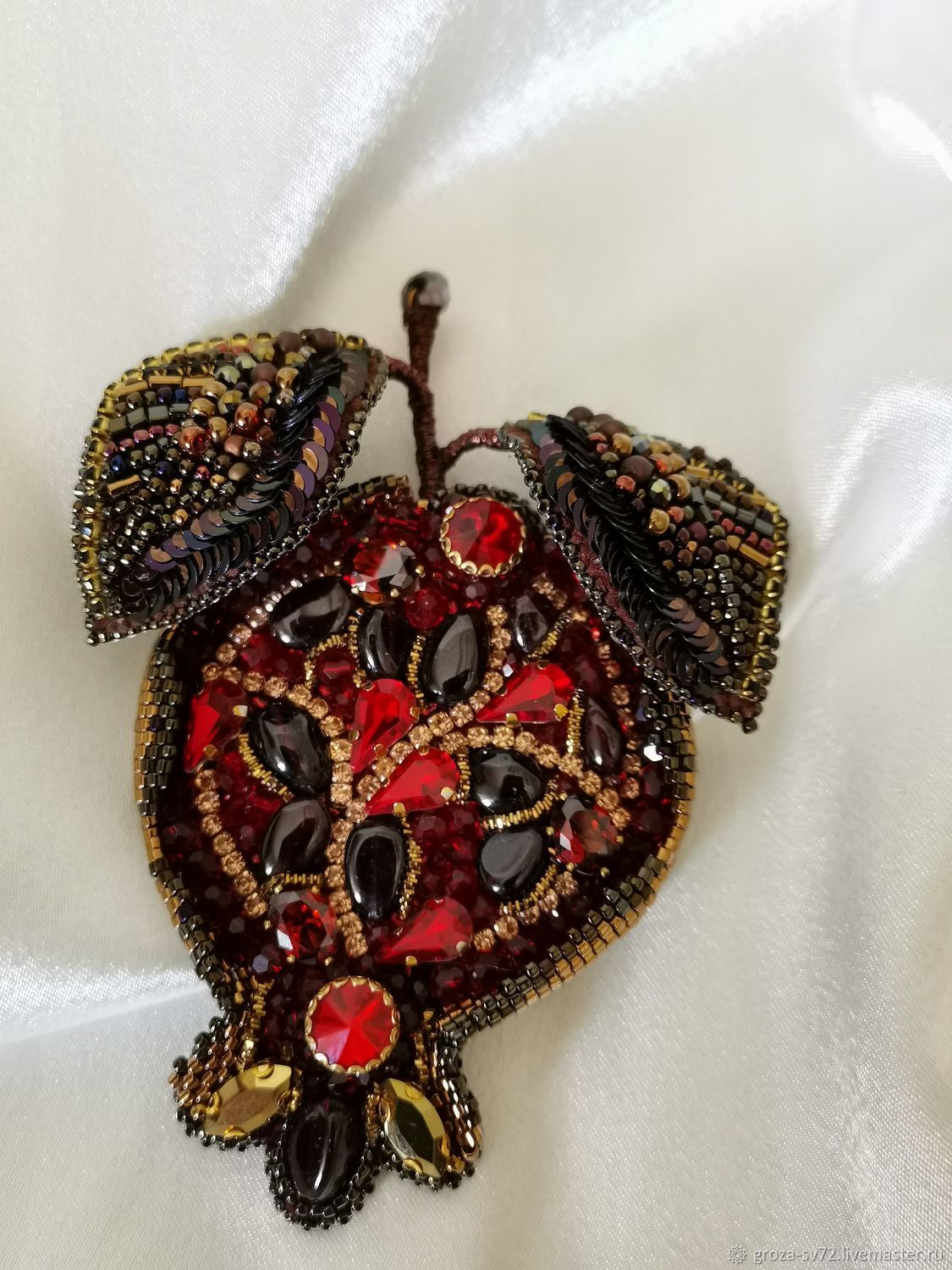 Brooch-pin: ' Golden pomegranate', Brooches, Moscow,  Фото №1