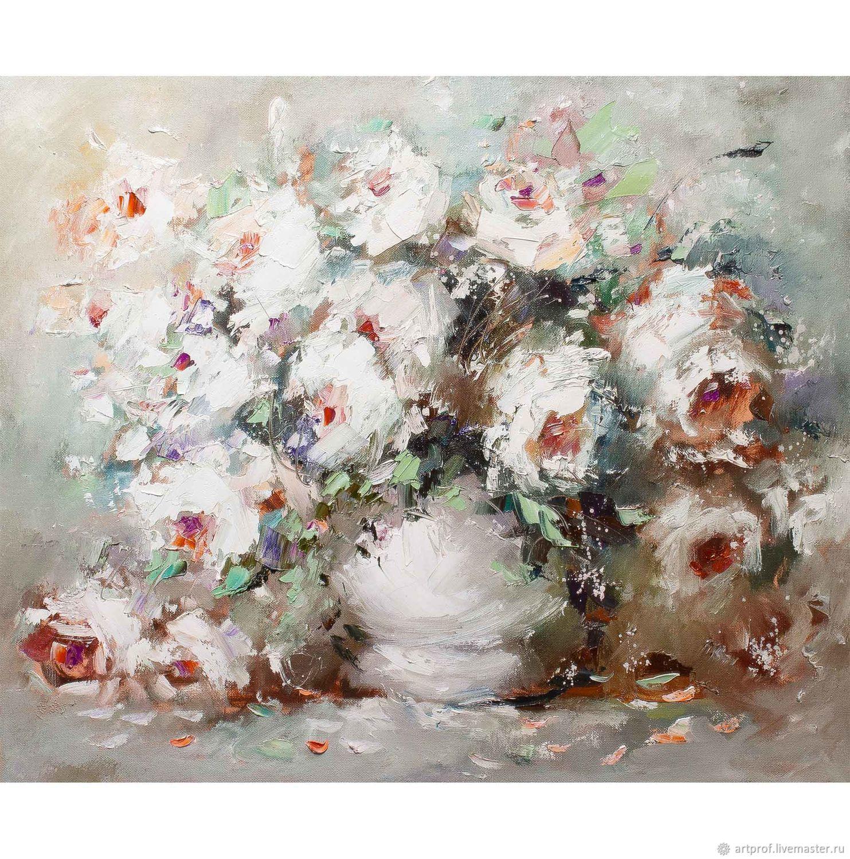 Картина Букет цветов масло, холст 50 х 60см, Картины, Тимашевск,  Фото №1