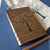 """Канцелярские товары ручной работы. Ярмарка Мастеров - ручная работа Блокнот из дерева """"дерево"""" (резьба). Handmade."""