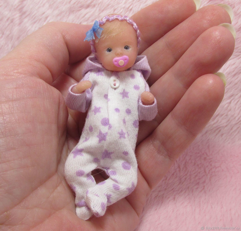 Силиконовый младенец 8см, Куклы Reborn, Северодвинск,  Фото №1