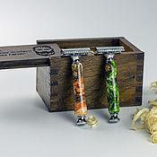 Косметика ручной работы handmade. Livemaster - original item Shaving machine in a box of stained oak. Handmade.