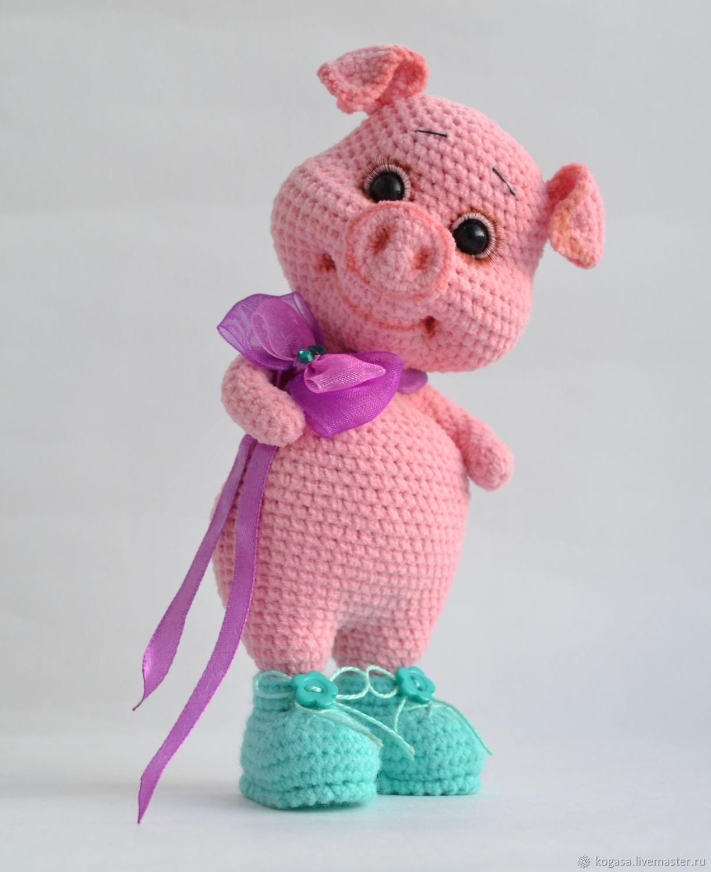 МК Свинка Пегги - свинка в ботинках (крючок) – купить в ...