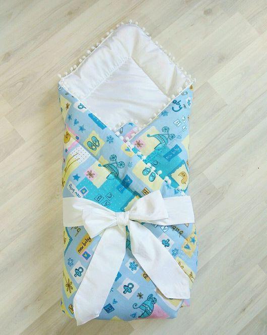 Для новорожденных, ручной работы. Ярмарка Мастеров - ручная работа. Купить Конверт одеяло на выписку. Handmade. Для детей, для новорожденной