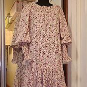 Одежда ручной работы. Ярмарка Мастеров - ручная работа Платье для Дарьи из поплина с епископским рукавом. Handmade.