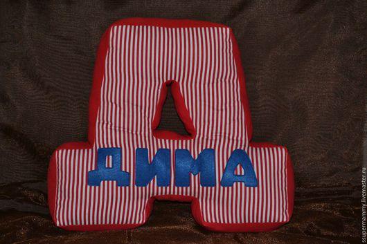 Текстиль, ковры ручной работы. Ярмарка Мастеров - ручная работа. Купить Подушки буквы. Handmade. Подушка декоративная, буквы подушки