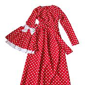 Одежда ручной работы. Ярмарка Мастеров - ручная работа Платье для мамы и дочки в одном стиле. Handmade.